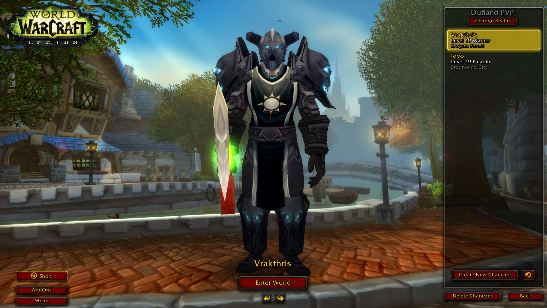 19 warrior twink items